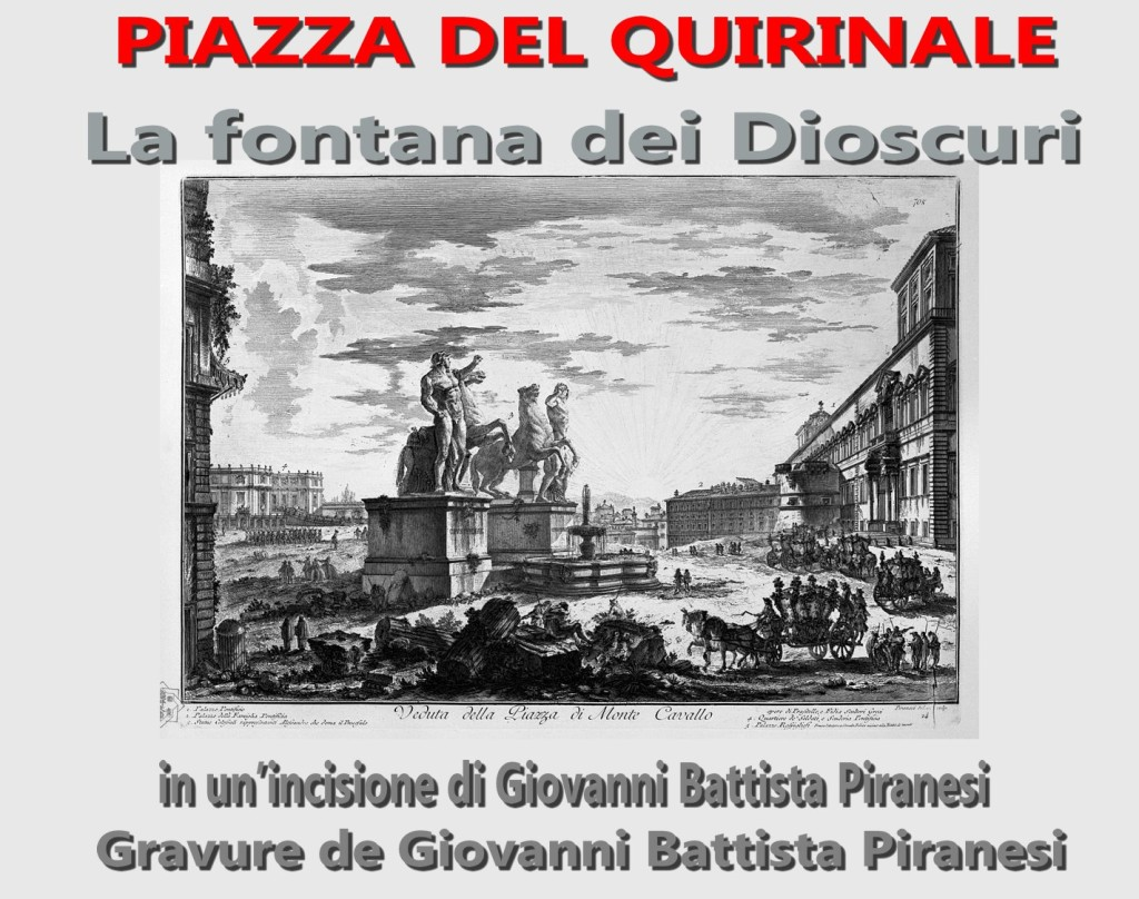 La fontana dei Dioscuri in un'incisione di Giovanni Battista Piranesi