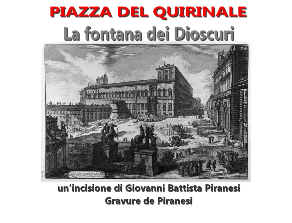 La fontana dei Dioscuri in un'incisione di Giovanni Battista Piranesi 2