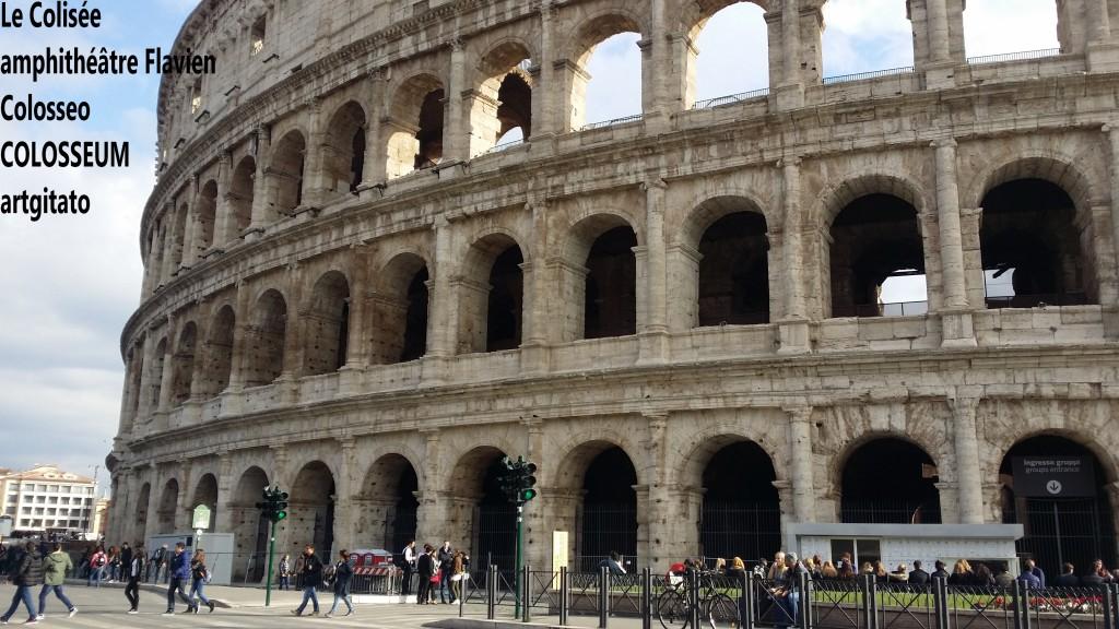 Le Colisée amphithéâtre Flavien Colosseo Colosseum artgitato 12