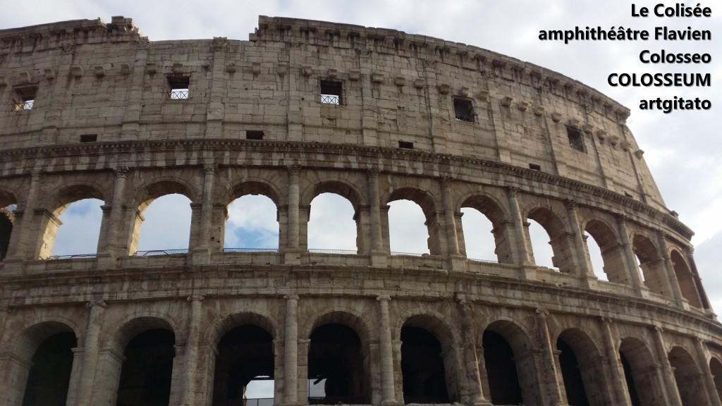 Le Colisée amphithéâtre Flavien Colosseo Colosseum artgitato 13