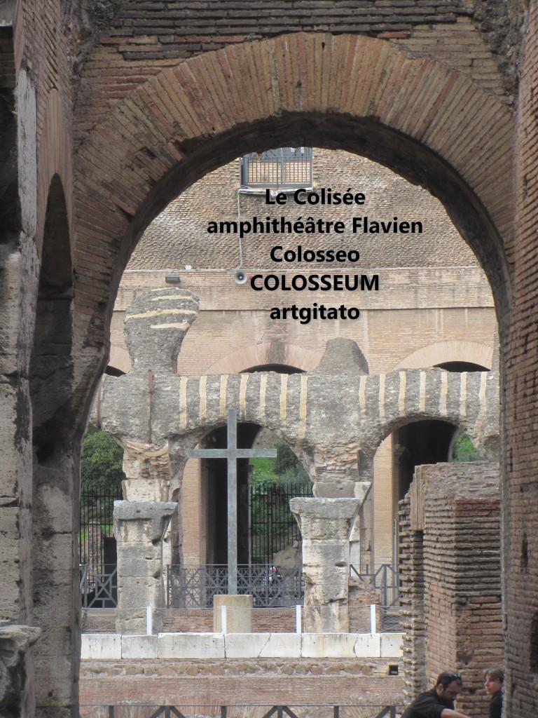 Le Colisée amphithéâtre Flavien Colosseo Colosseum artgitato 14