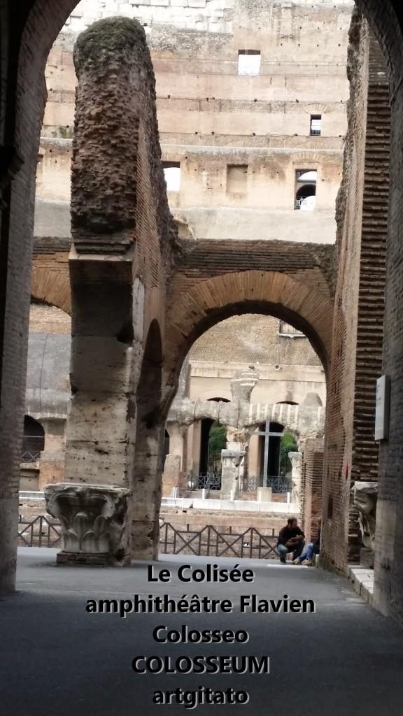 Le Colisée amphithéâtre Flavien Colosseo Colosseum artgitato 2