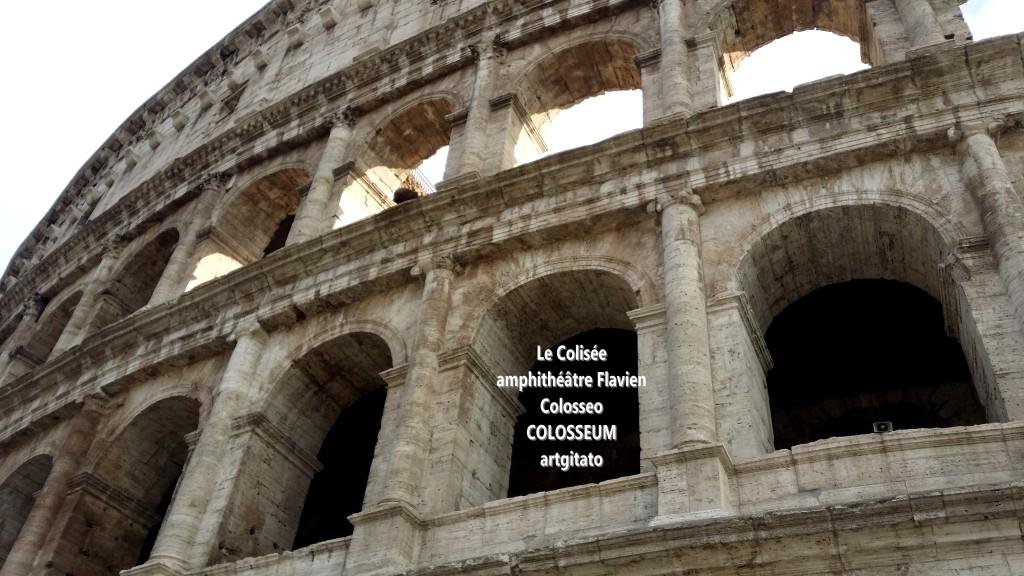 Le Colisée amphithéâtre Flavien Colosseo Colosseum artgitato 3