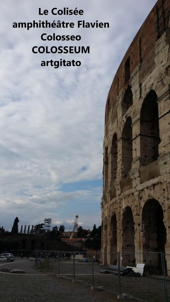 Le Colisée amphithéâtre Flavien Colosseo Colosseum artgitato 5