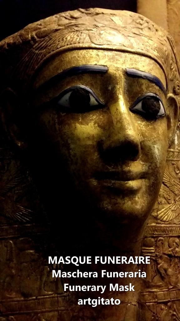 MASQUE FUNERAIRE maschera funeraria funerary mask musée egyptien artgitato vatican