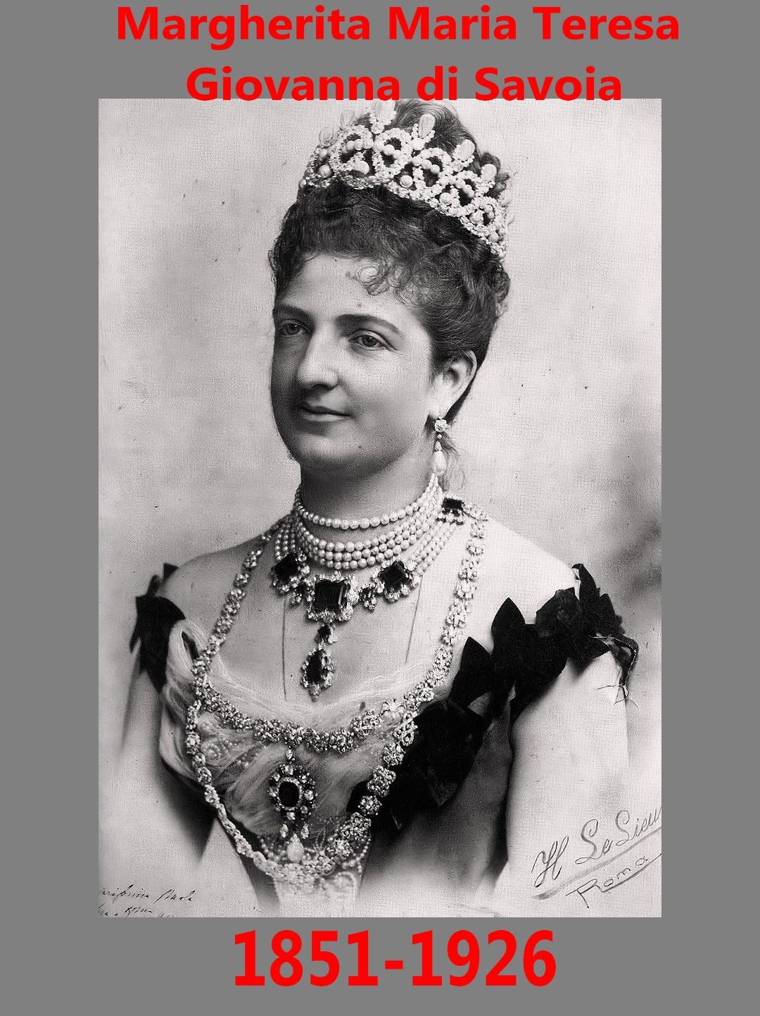 Margherita Maria Teresa Giovanna di Savoia Queen Margharitha di Savoia
