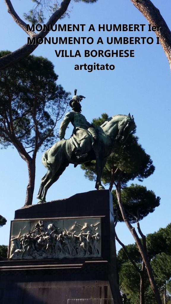 Monument à Humbert Ier Monumento a Umberto I Villa borghese rome roma artgitato 0