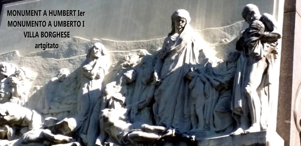 Monument à Humbert Ier Monumento a Umberto I Villa borghese rome roma artgitato 1