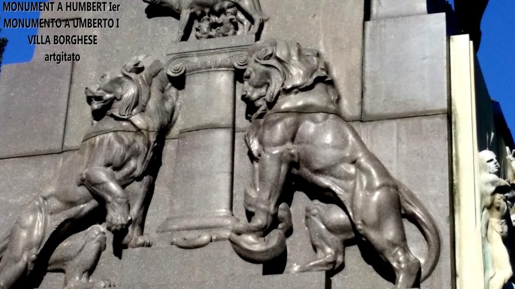 Monument à Humbert Ier Monumento a Umberto I Villa borghese rome roma artgitato 2