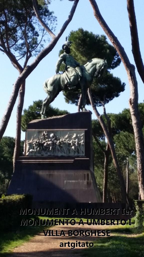 Monument à Humbert Ier Monumento a Umberto I Villa borghese rome roma artgitato 20