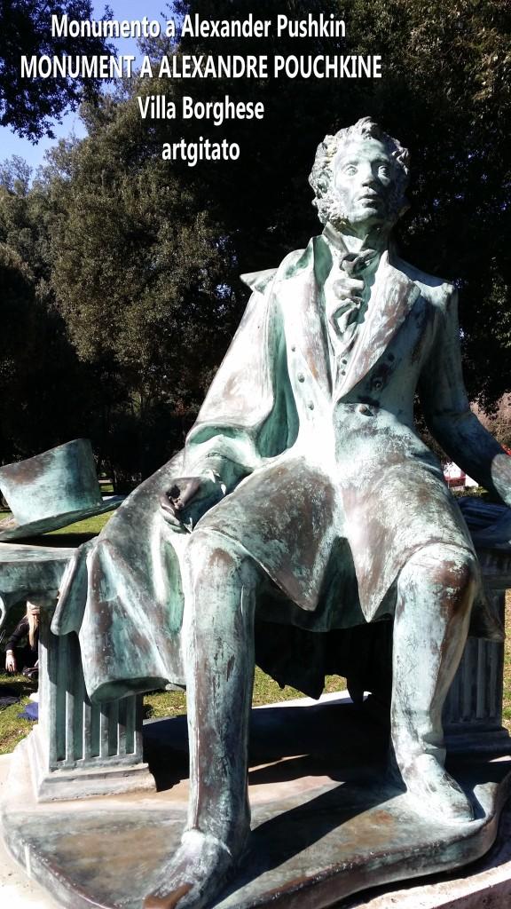 Monumento a Alexander Pushkin - MONUMENT A ALEXANDRE POUCHKINE-artgitato Villa borghese Rome Roma 2