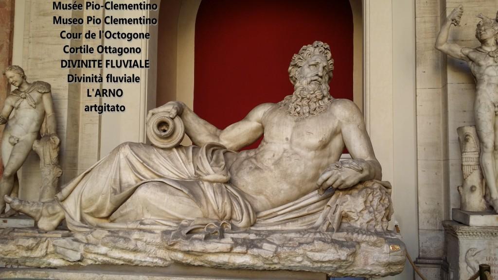 Musée Pio Clementio Museo Cour de l'octogone Cortile Ottagono divinité fluviale divinta fluviale arno artgitato 2