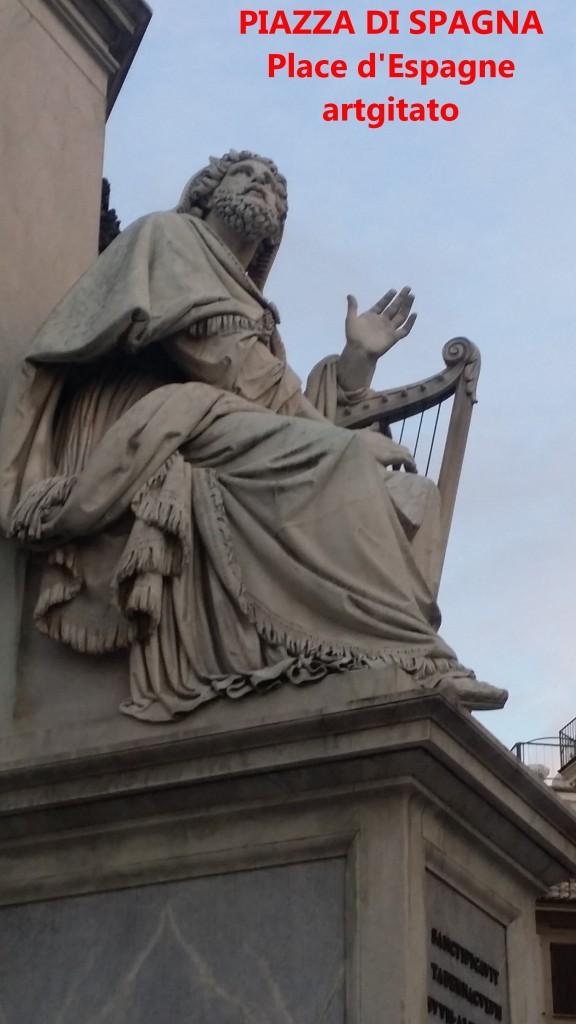 PIAZZA DI SPAGNA Place d'Espagne Rome Roma artgitato 1
