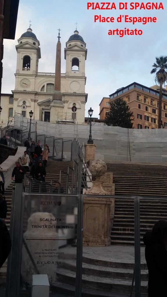 PIAZZA DI SPAGNA Place d'Espagne Rome Roma artgitato 4