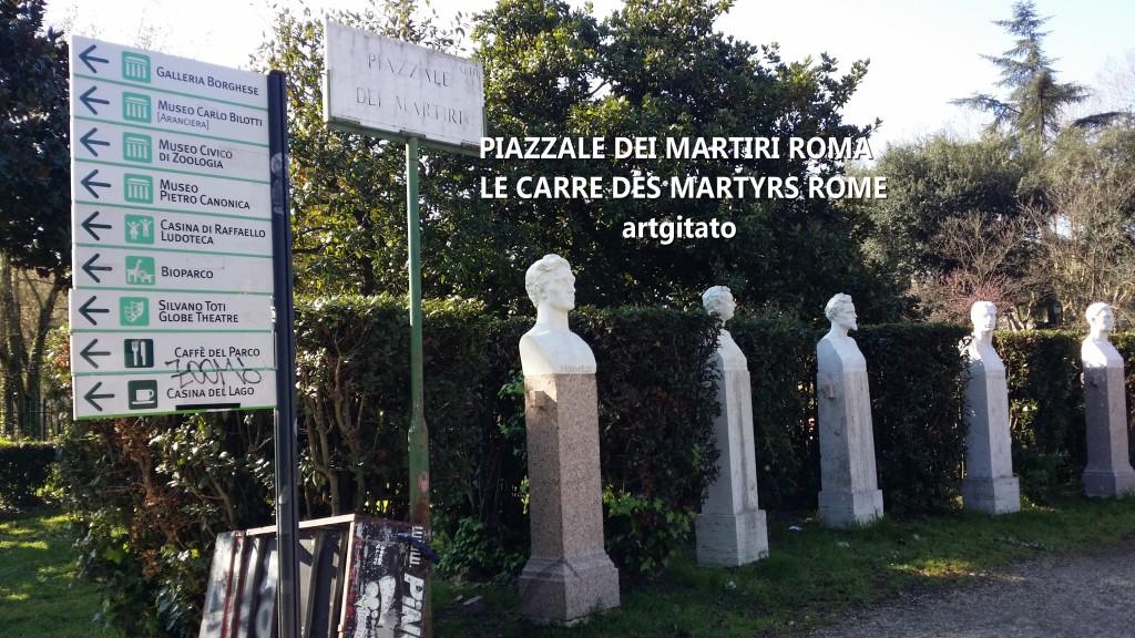 PIAZZALE DEI MARTIRI ROMA - LE CARRE DES MARTYRS ROME artgitato