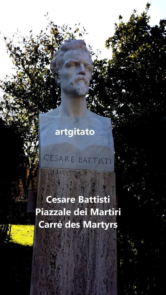 PIAZZALE DEI MARTIRI ROMA - LE CARRE DES MARTYRS ROME artgitato Cesare Battisti