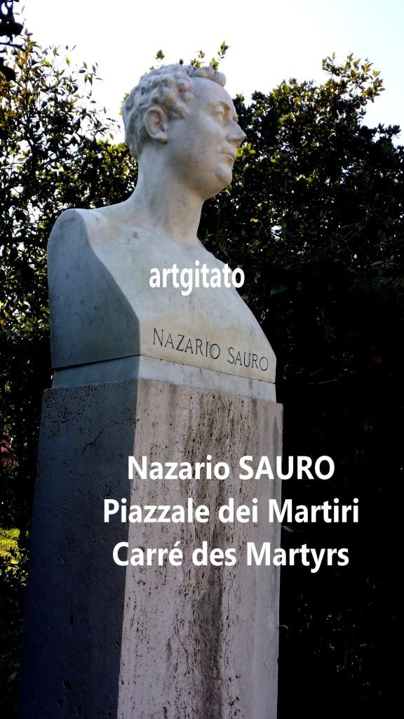 PIAZZALE DEI MARTIRI ROMA - LE CARRE DES MARTYRS ROME artgitato Nazario Sauro