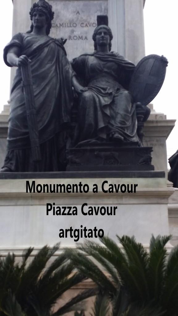 Piazza Cavour Place Cavour Rome Roma artgitato 10 Monumento a Cavour