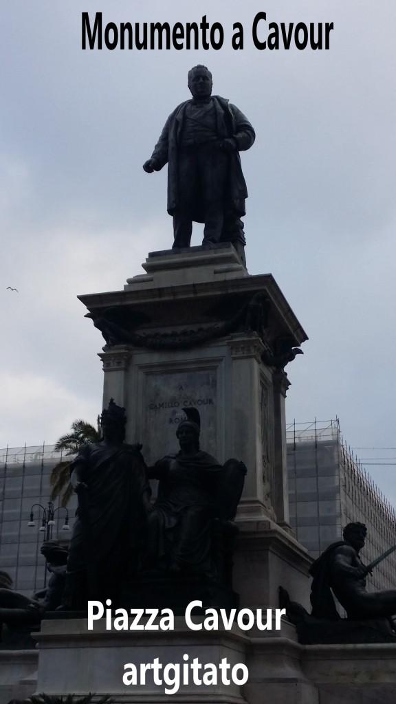 Piazza Cavour Place Cavour Rome Roma artgitato 11 Monumento a Cavour