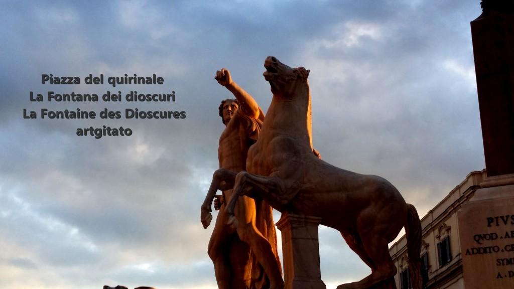 Piazza del quirinale Roma La Fontana dei dioscuri artgitato 6
