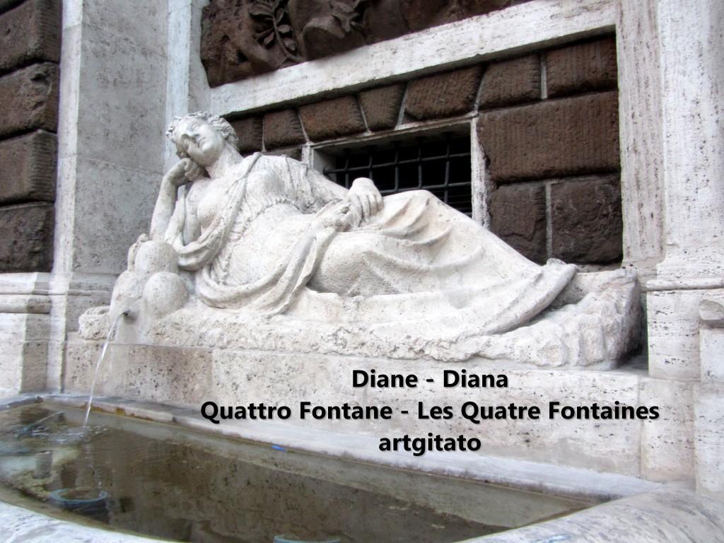 Quattro Fontane Les Quatre Fontaines Diana Roma Diane Rome artgitato 1