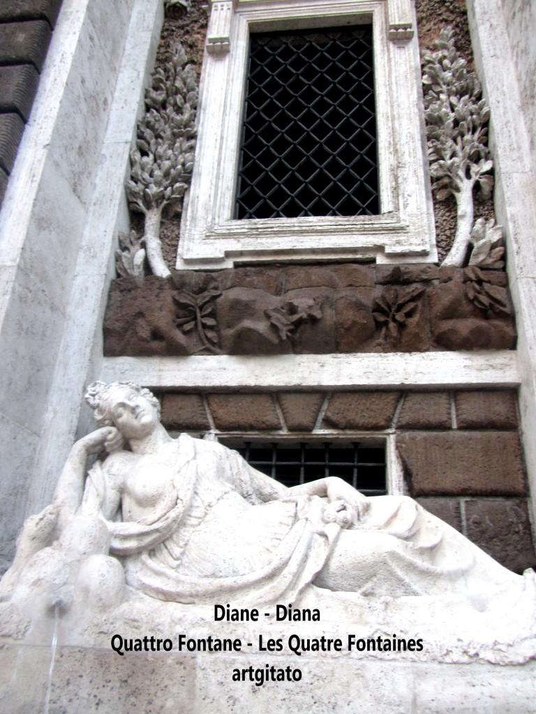 Quattro Fontane Les Quatre Fontaines Diana Roma Diane Rome artgitato 3