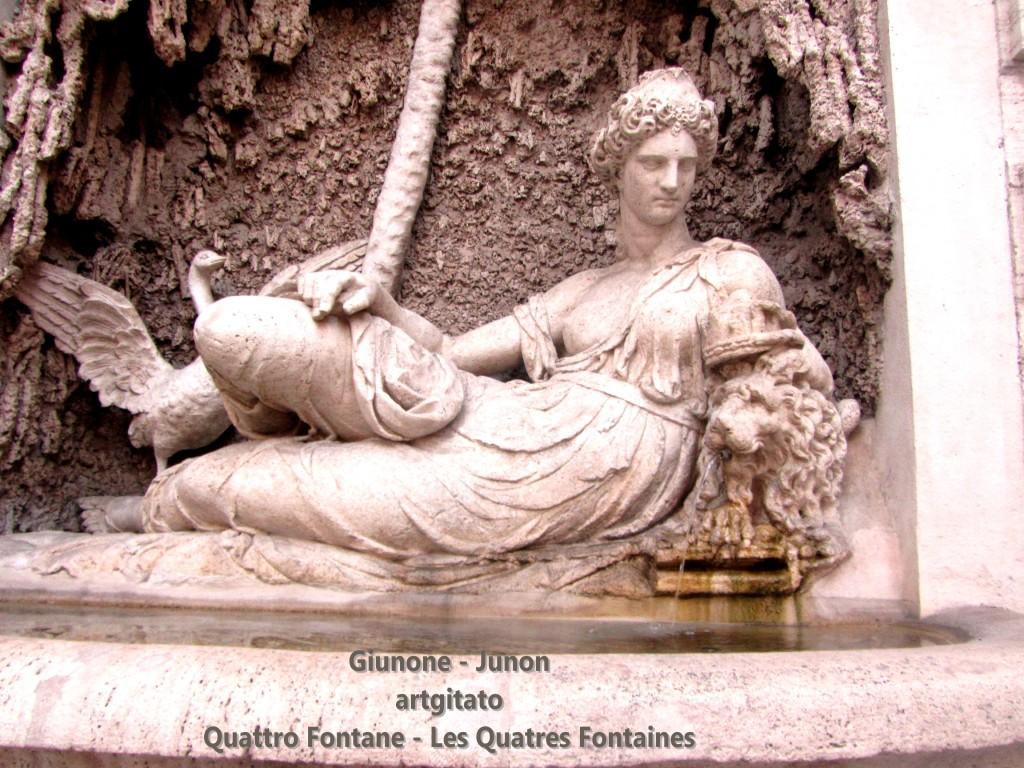 Quattro Fontane Les Quatre Fontaines Giunone Junon artgitato 1