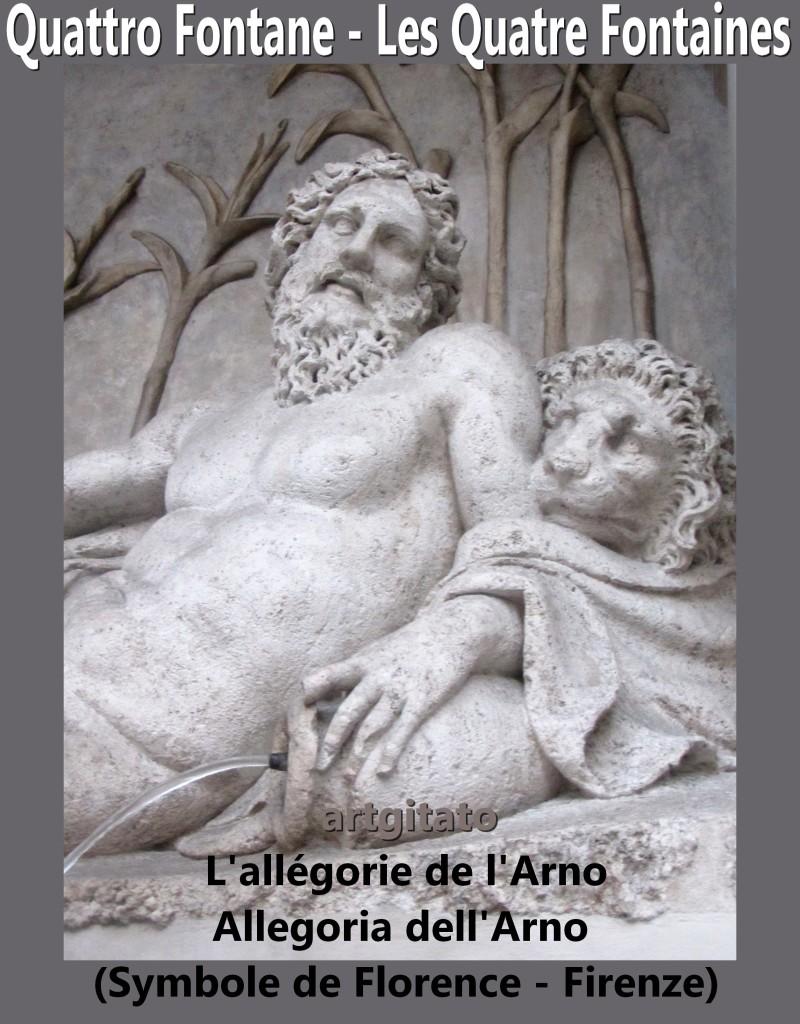 Quattro Fontane Les Quatre Fontaines L'allégorie de l'Arno allegoria dell'arno Florence Firenze artgitato 1