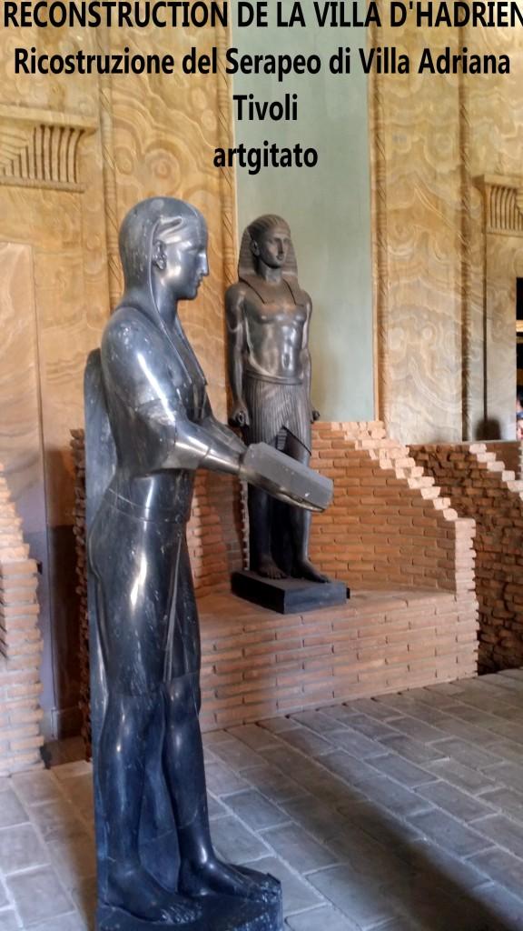 RECONSTRUCTION DE LA VILLA D'HADRIEN Risostruzione del Serapeo di Villa Adriana artgitato 2