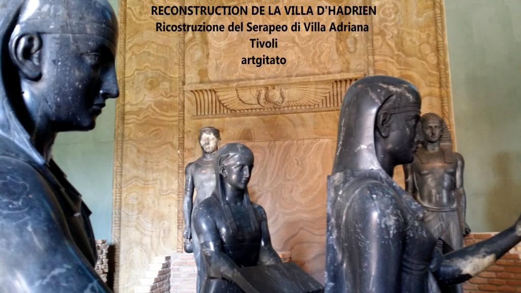 RECONSTRUCTION DE LA VILLA D'HADRIEN Risostruzione del Serapeo di Villa Adriana artgitato 3
