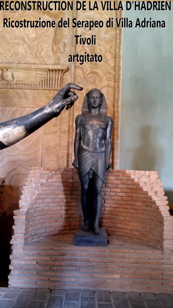 RECONSTRUCTION DE LA VILLA D'HADRIEN Risostruzione del Serapeo di Villa Adriana artgitato