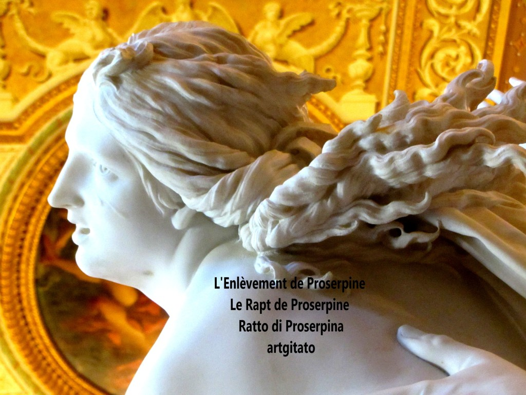 Rapt de Proserpine Ratto di Proserpina L'enlèvement de Proserpine artgitato Galleria Borghese Galerie Borghese 2