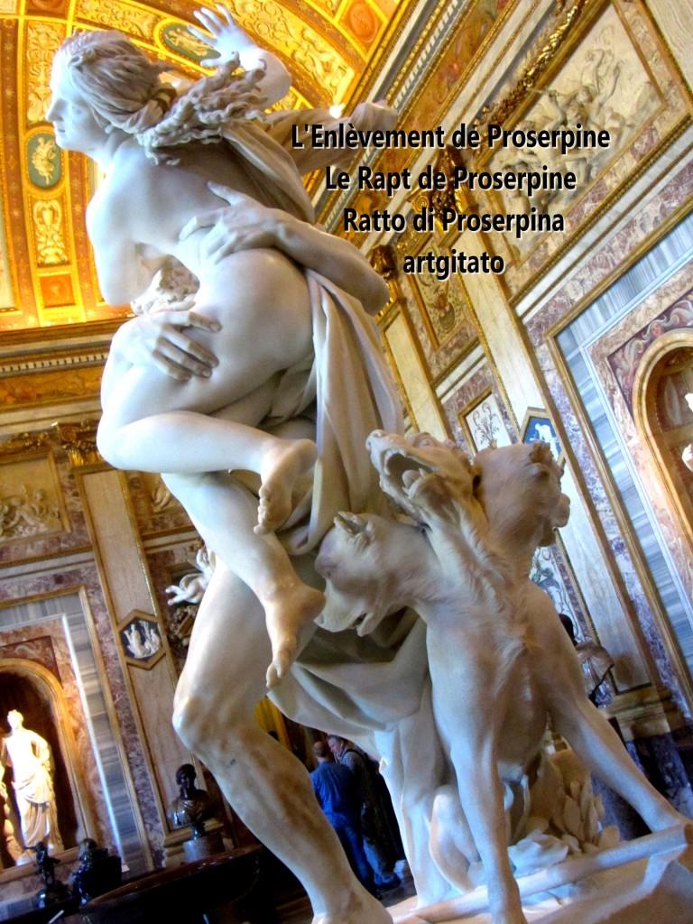 Rapt de Proserpine Ratto di Proserpina L'enlèvement de Proserpine artgitato Galleria Borghese Galerie Borghese 4