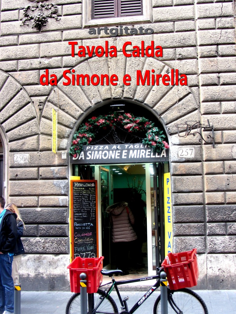 Tavola Calda da Simone e Mirella Via di Ripetta 257 Roma Rome artgitato