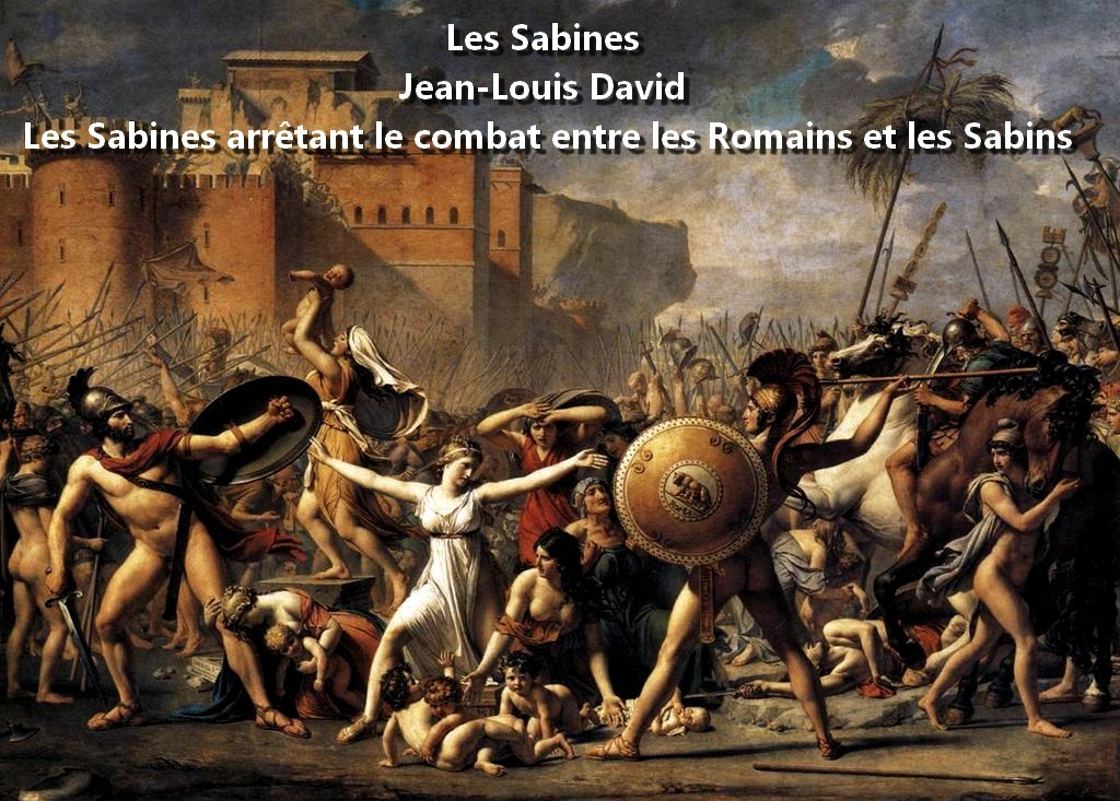 The_Intervention_of_the_Sabine_Women Les Sabines L'Intervention des Sabines Les Sabines arrêtant le combat entre les Romains et les Sabins Jean-Louis David Rome Cité éternelle