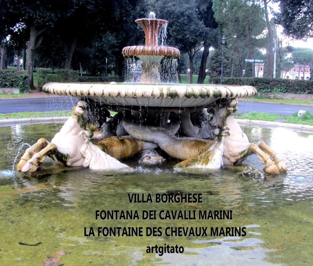 VILLA BORGHESE FONTANA DEI CAVALLI MARINI - LA FONTAINE DES CHEVAUX MARINS artgitato 1