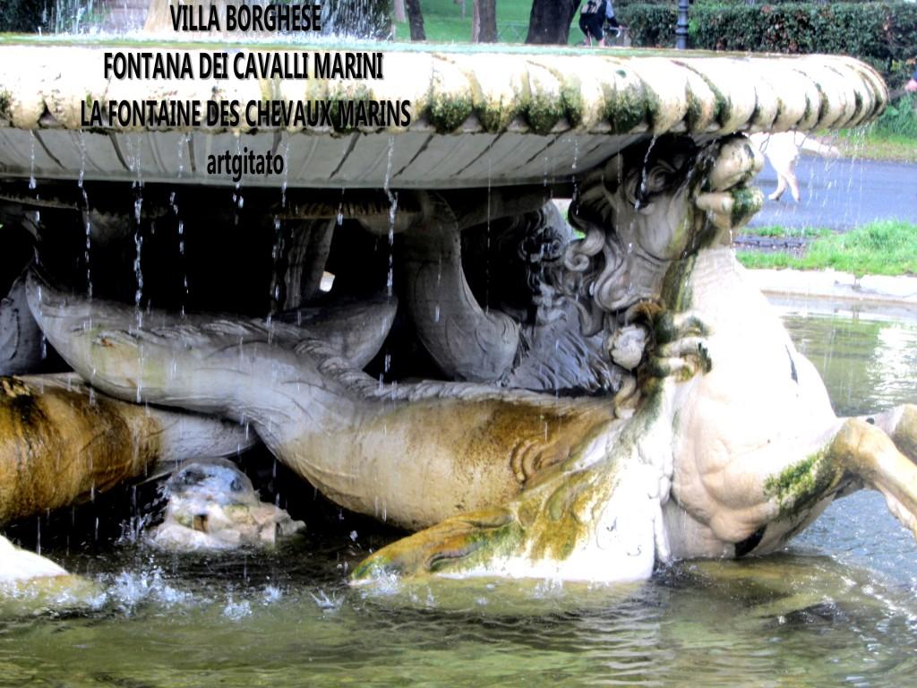VILLA BORGHESE FONTANA DEI CAVALLI MARINI - LA FONTAINE DES CHEVAUX MARINS artgitato 2
