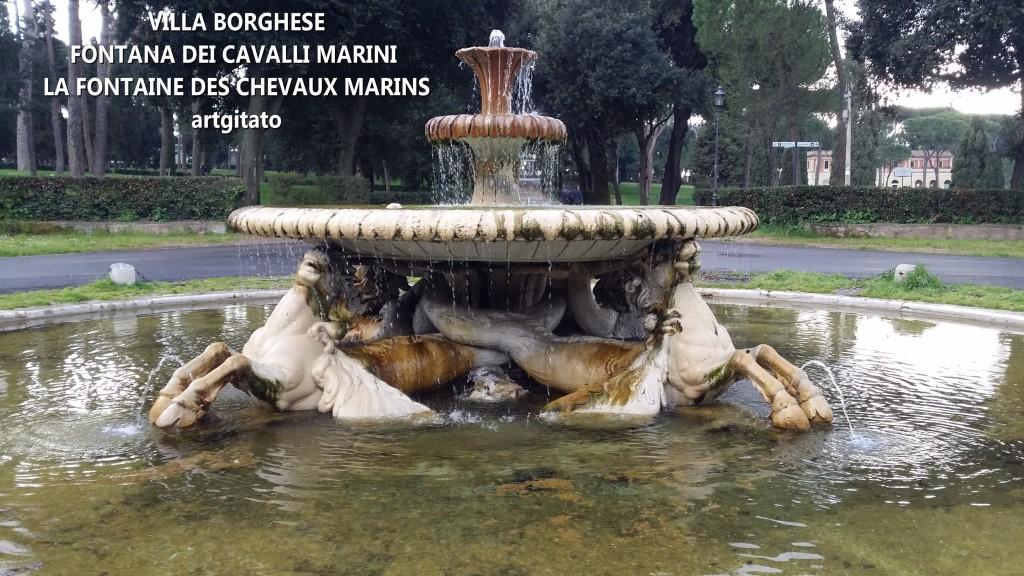 VILLA BORGHESE FONTANA DEI CAVALLI MARINI - LA FONTAINE DES CHEVAUX MARINS artgitato 6