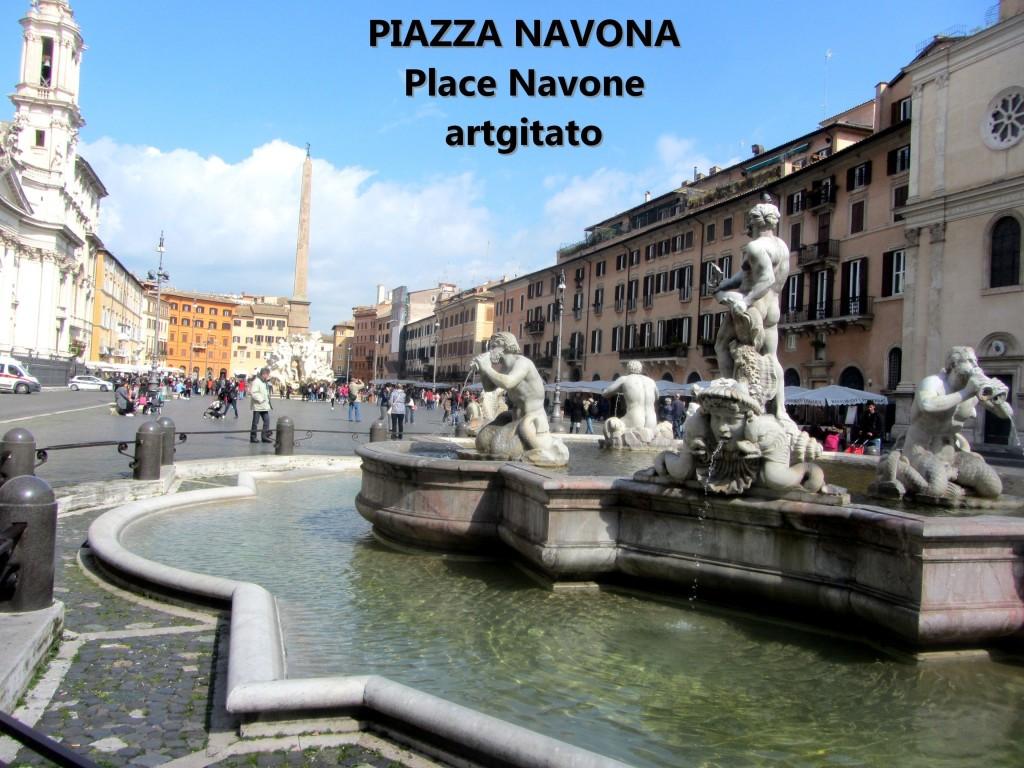 VUE GENERALE Piazza Navona Place Navone Rome Roma artgitato 29
