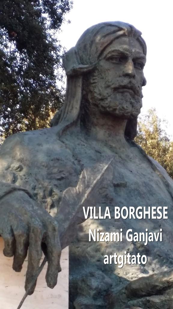 Villa Borghese Rome Roma Monumento a Nizami Ganjavi 1