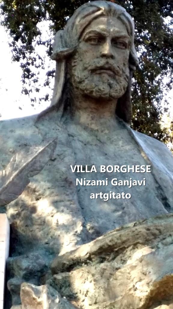 Villa Borghese Rome Roma Monumento a Nizami Ganjavi 2
