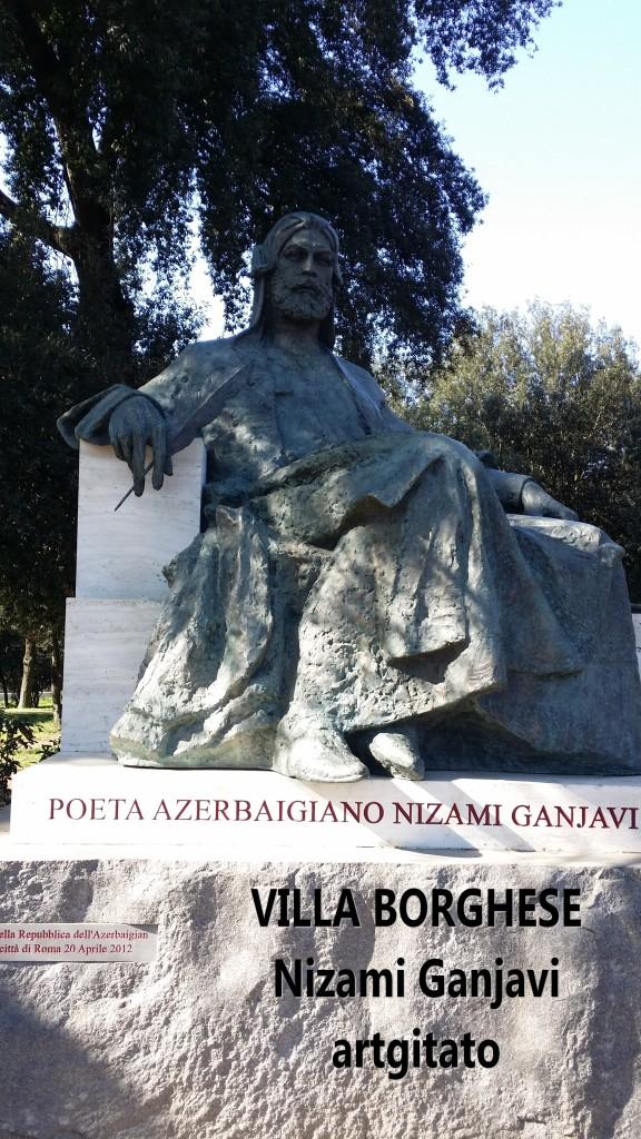Villa Borghese Rome Roma Monumento a Nizami Ganjavi 3