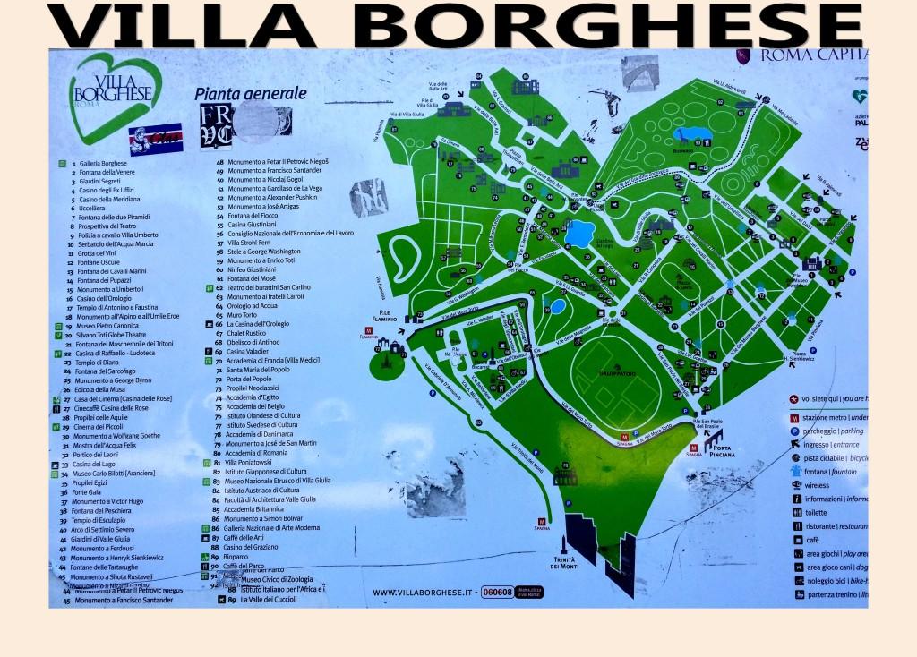 Villa Borghese Villa Borghèse Rome Roma Pianta Generale Plan Général artgitato