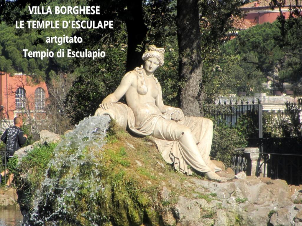 Villa Borghese Villa Borghèse Rome Roma Temple d'Esculape Tempio di Esculapio artgitato 1