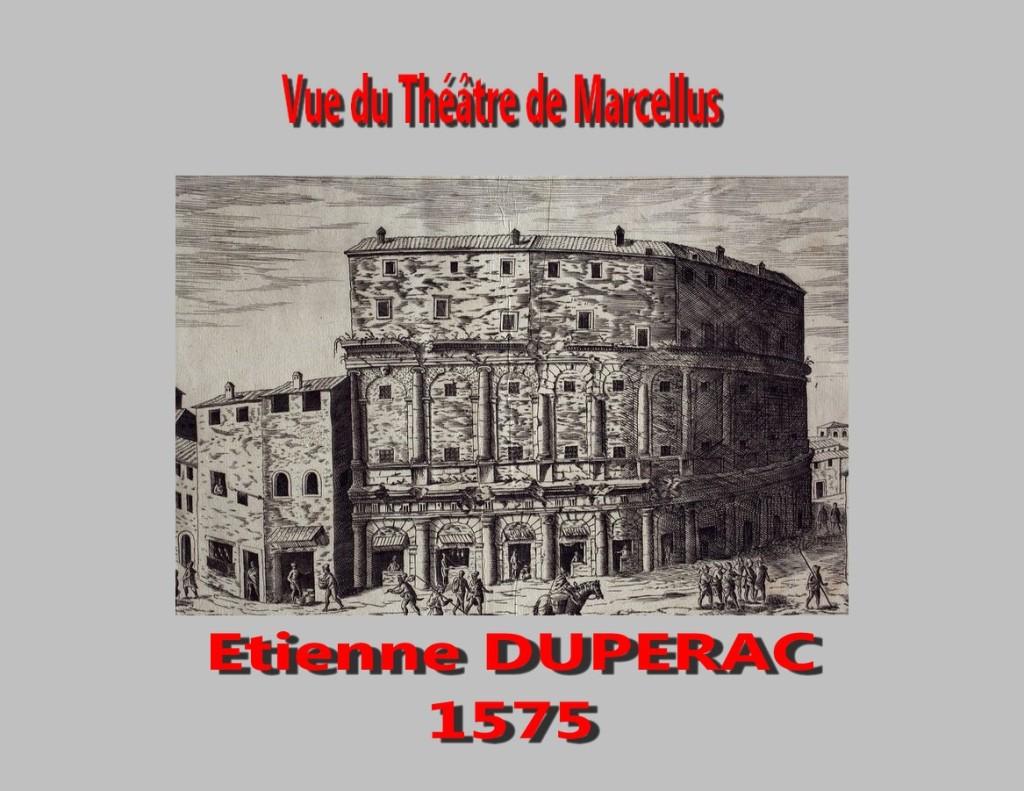 Vue du théâtre Étienne Dupérac 1575