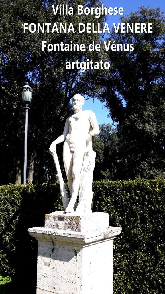 fontana della venere Fontaine de Venus Villa Borghese Roma Rome Artgitato 1