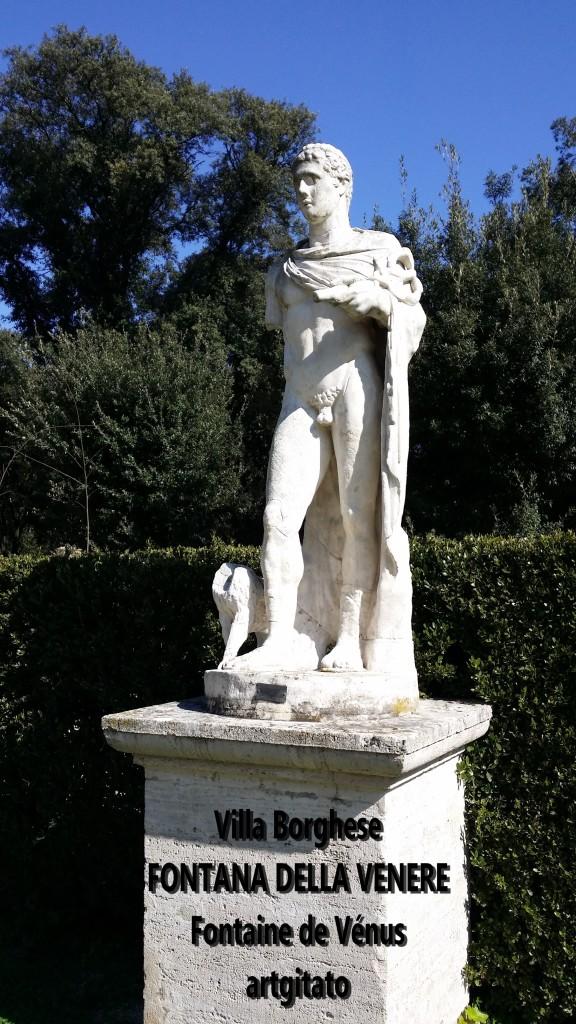 fontana della venere Fontaine de Venus Villa Borghese Roma Rome Artgitato 2