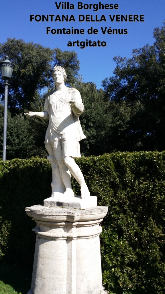 fontana della venere Fontaine de Venus Villa Borghese Roma Rome Artgitato 3