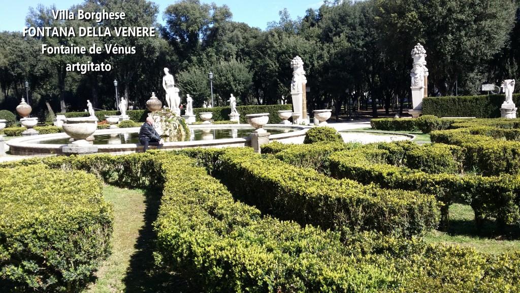 fontana della venere Fontaine de Venus Villa Borghese Roma Rome Artgitato 4