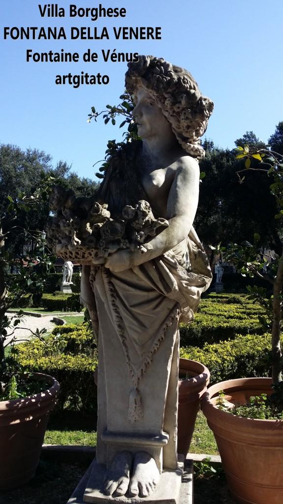fontana della venere Fontaine de Venus Villa Borghese Roma Rome Artgitato 5